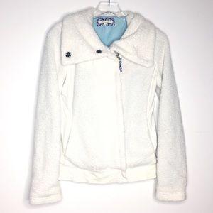 pure + good (Anthro) White Teddy Bear Jacket Coat